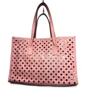 Elizabeth Arden large baby pink pvc beach tote